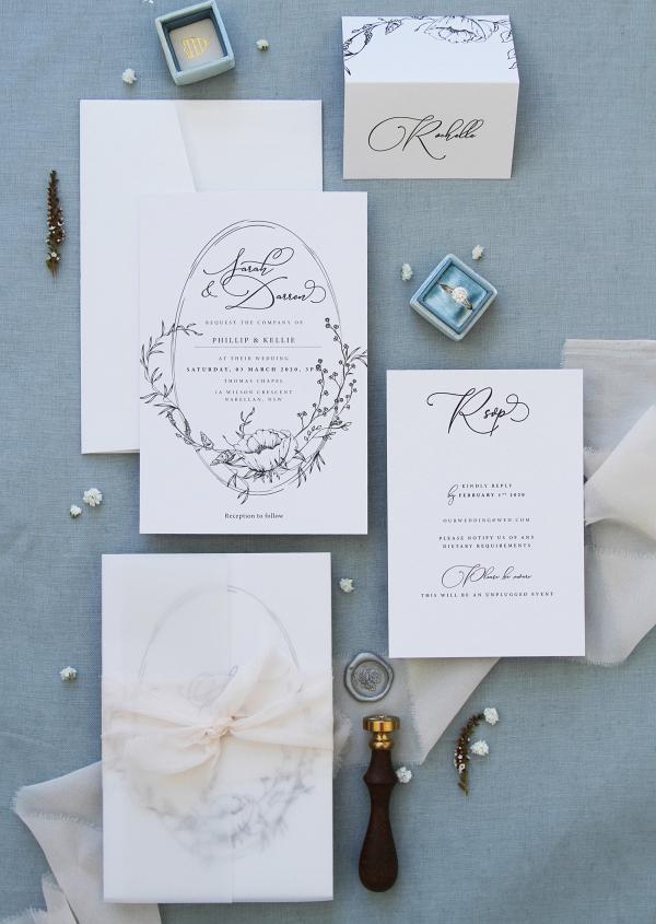 Printable Floral Wedding Invitation