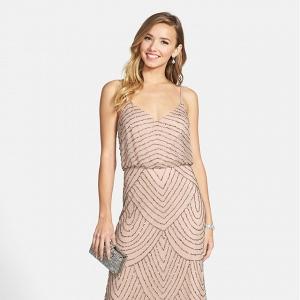 Adrianna Papell Embellished Blouson Bridesmaid Dress