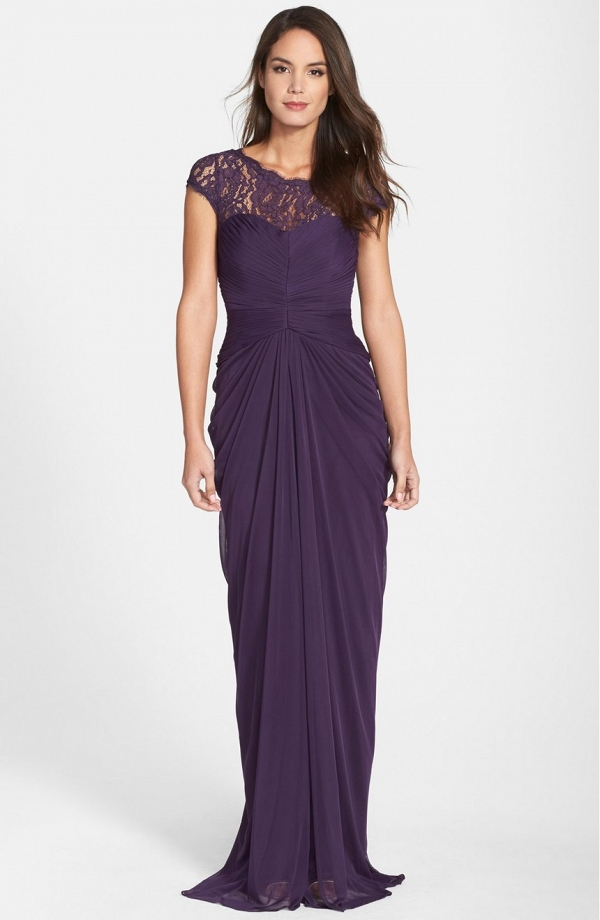 Illusion Neckline Mother of the Bride Dress