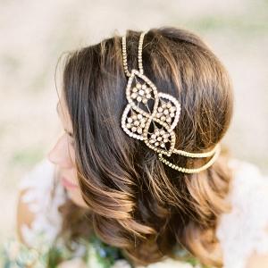'Aleris' Bronze Bridal Headpiece