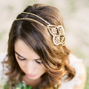 'Aleris' Bronze Bridal Headpiece