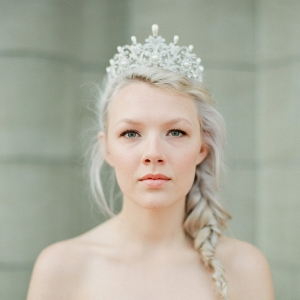 'Alexandra' Pearl & Diamante Bridal Crown