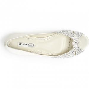 'Andie' Crystal Embellished Peep Toe Bridal Flat