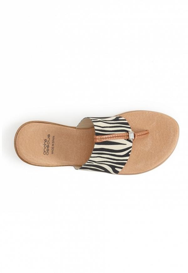 'Nice' Sandal in Zebra Print
