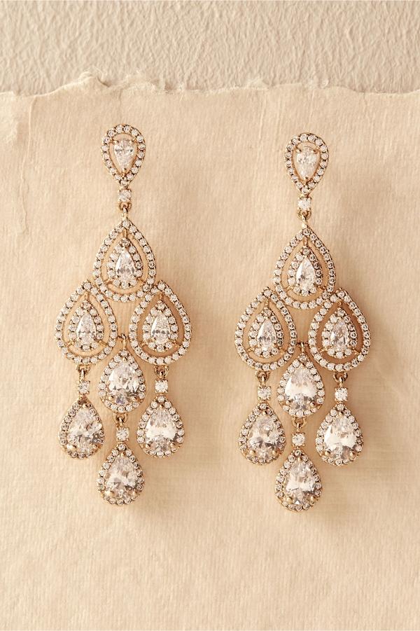 Aniston Chandelier Bridal Earrings