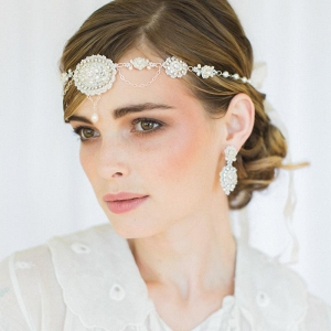Amandine Halo Forehead Headband by Edera Jewelry