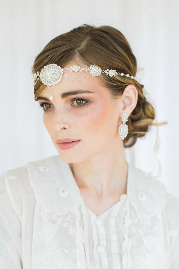 Amandine Halo Forehead Headband by Edera Jewelry