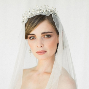 Aquarelle Crystal & Opal Bridal Crown