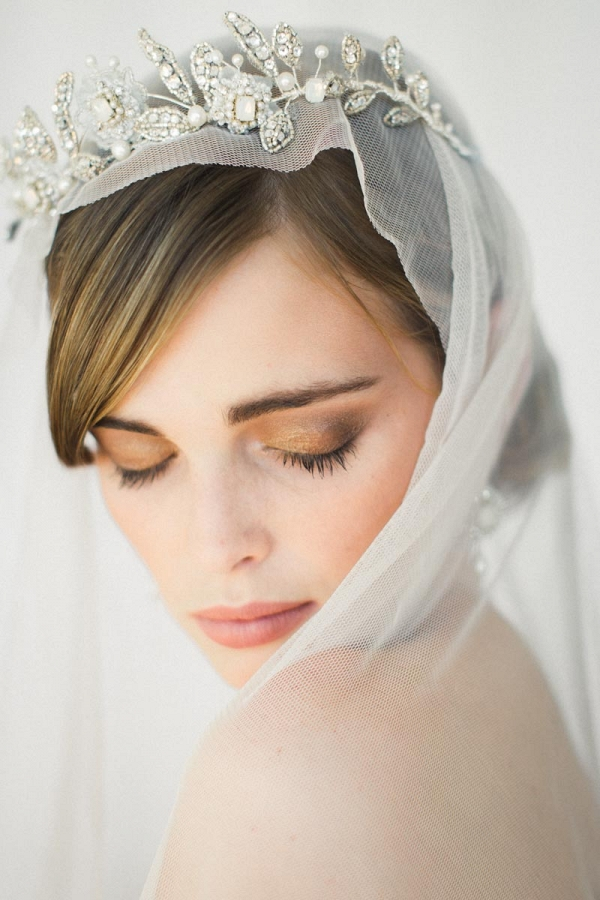 Aquarelle Crystal & Opal Bridal Crown