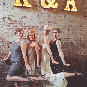 Glamorous Art Deco Inspired Bride & Bridesmaids | Photography - Chris Spira Photography