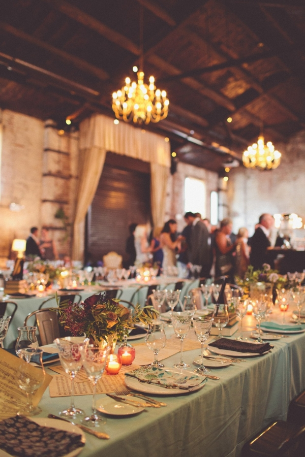 Speakeasy Inspired Wedding Soiree Tablescapes | Photography - Chris Spira Photography