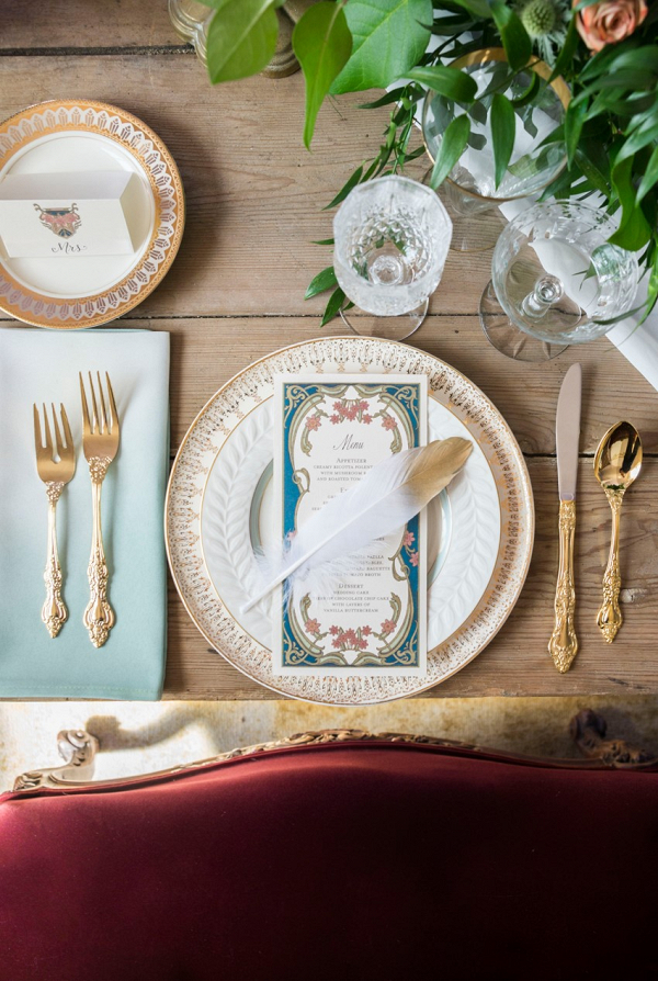 Art Nouveau Wedding Place Setting