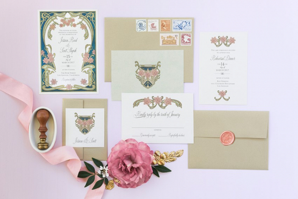Art Nouveau Wedding Stationery Suite