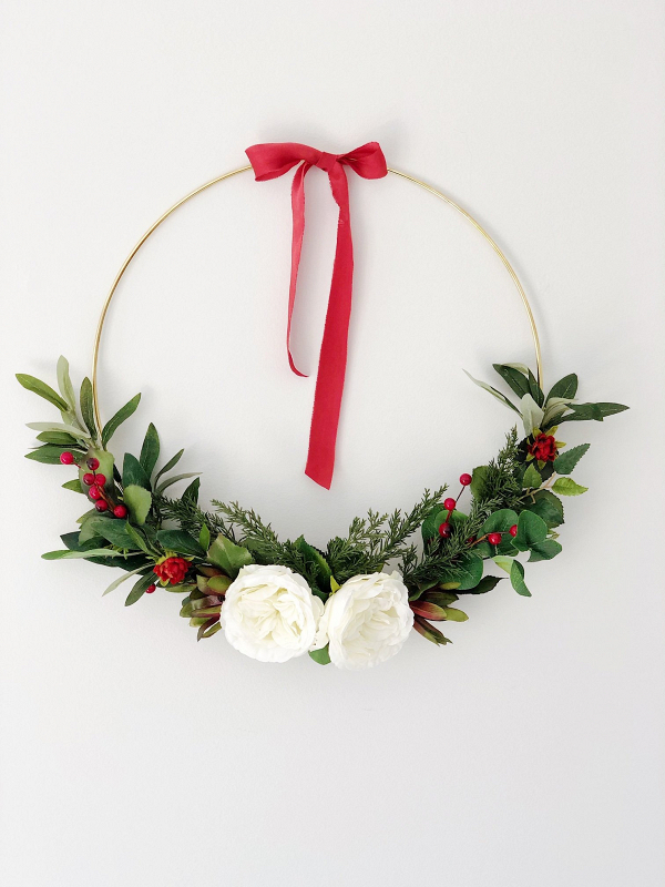 Asymmetrical Holiday Wreath