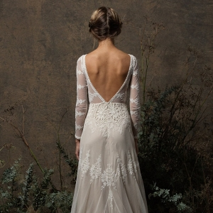Aurora Lace Long Sleeve Boho Wedding Dress