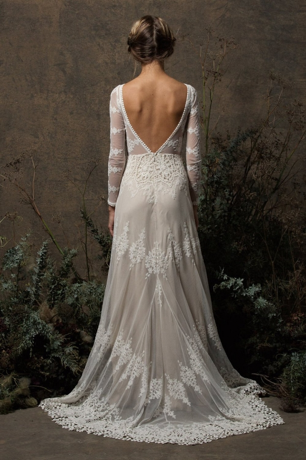 Aurora Lace Long Sleeve Boho Wedding Dress