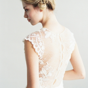 'Ava' Beaded Lace and Silk Wedding Dress from Saint Isabel