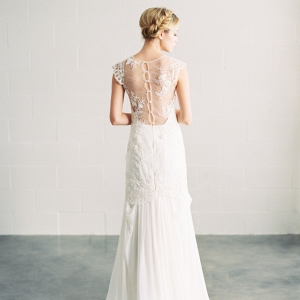 'Ava' Beaded Lace and Silk Bridal Gown from Saint Isabel