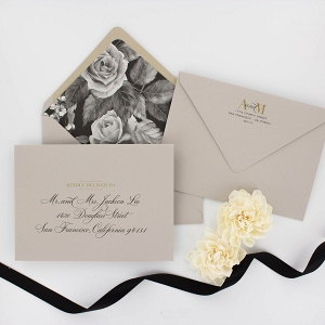 'Avery' A Modern Floral Wedding Invitation Suite
