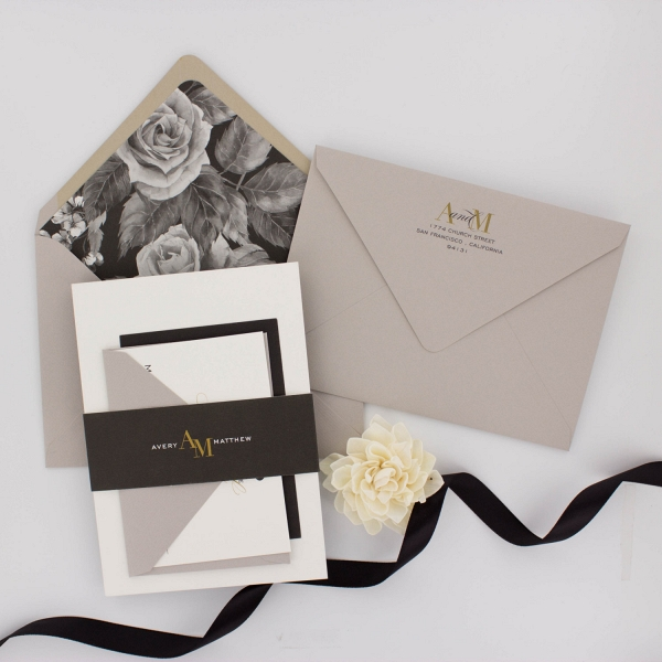 'Avery' A Modern Floral Wedding Stationery Suite