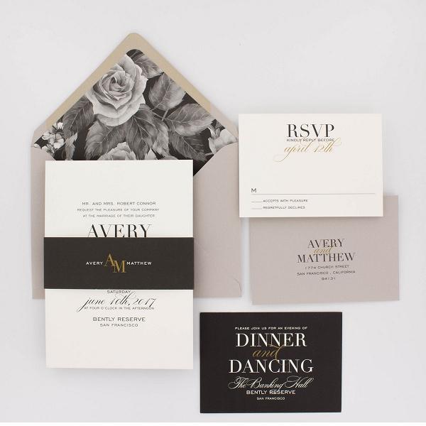 'Avery' A Modern Floral Wedding Stationery