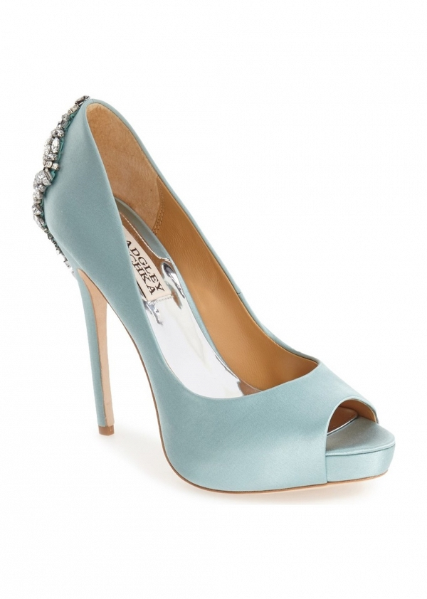 Badgley Mischka 'Kiara' Crystal Back Open Toe Pump