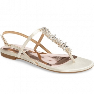 Badgley Mischkia Tate Flat Bridal Sandals