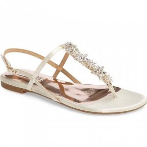 Badgley Mischkia Tate Flat Bridal Sandals