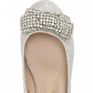 'Bali' Ballet Bridal Flat Silver