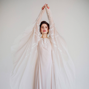 Batwing Sleeve Wedding Dress