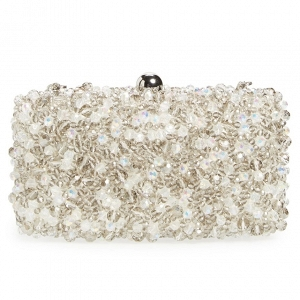 Beaded Box Bridal Clutch