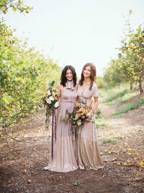 Bella Luna Sequin Dipped Mismatched Bridesmaid Dresses