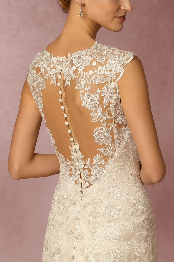 BHLDN 'Shea' Illusion Back Lace Bridal Gown