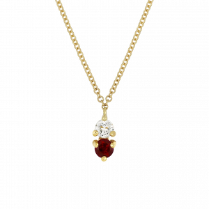 Ruby Birthstone Pendant Necklace