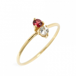 Ruby Birthstone  Stacking Ring