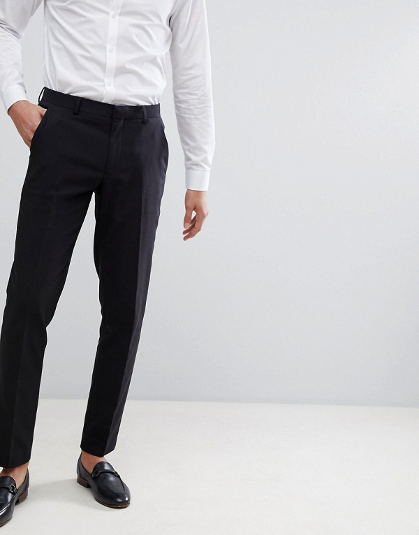 Skinny Fit Black Pants