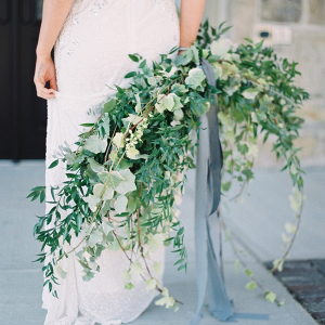 Oversized greenery bouquet