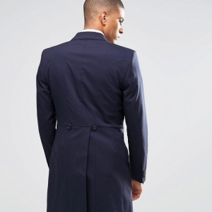 Traditional Morning Wedding Suit Jacket wth Tails in Blue