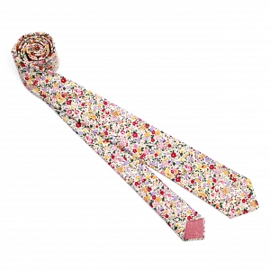 Blush Floral Print Necktie by Fox & Brie