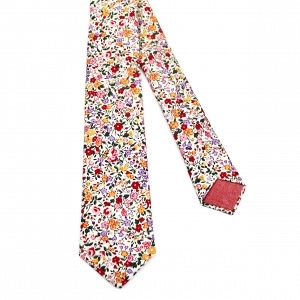 Floral Print Necktie by Fox & Brie