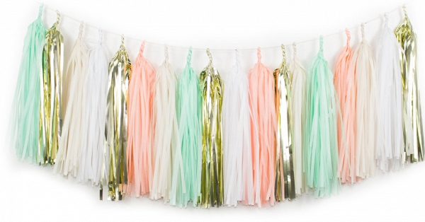 Mint & Blush Tassel Garland