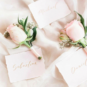 Blush Pink Silk Table Runner