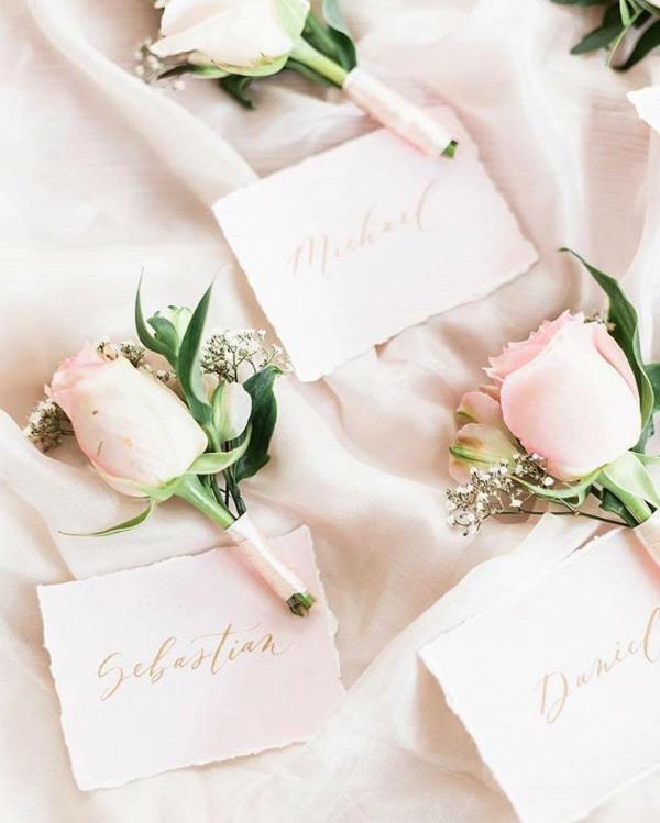Blush Pink Silk Table Runner