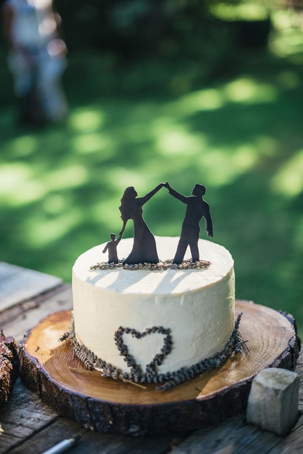 small lavender wedding cake on Chic Vintage Brides