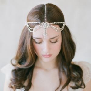 Boho Bridal Rhinestone Headpiece - Style 503 by Twigs & Honey