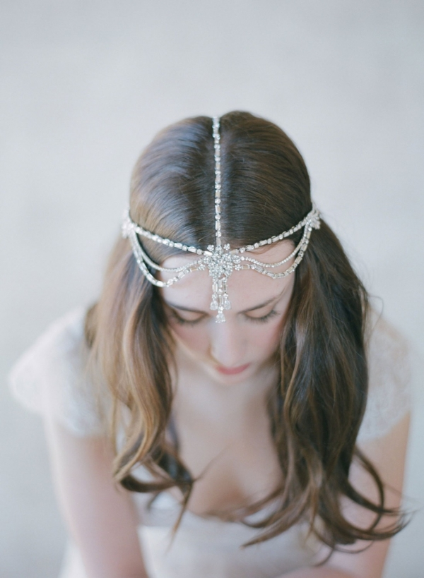 Boho Bridal Rhinestone Hair Accessory - Style 503 by Twigs & Honey