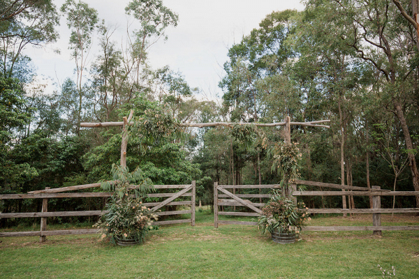 Rustic Greenery Wedding Ceremony Arch
