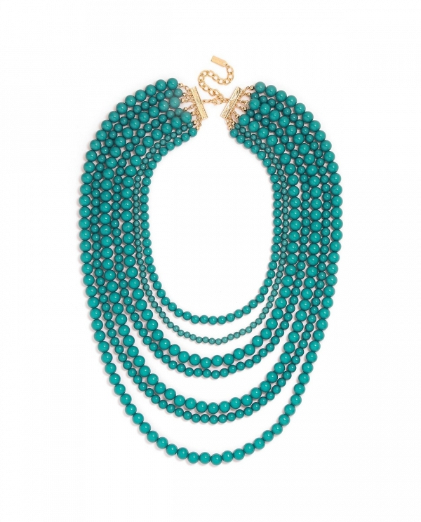 'Bold' Multistrand Beaded Statement Necklace