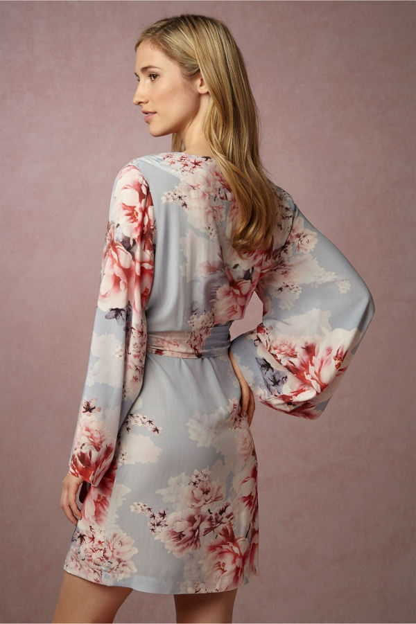 'Botanic Garden' Floral Print Bridal Robe