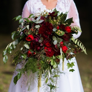 Stunning Red Bridal Bouquet